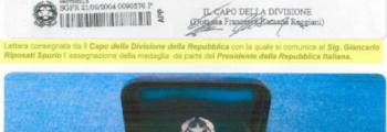 Medaglia d'argento dal Presidente della Repubblica Italiana